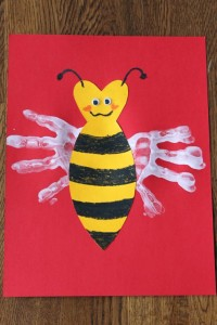 Bee Mine handprint art