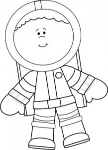 Black and White Little Boy Astronaut 1