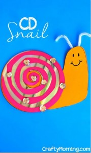 CD Snail Craft for Kids
