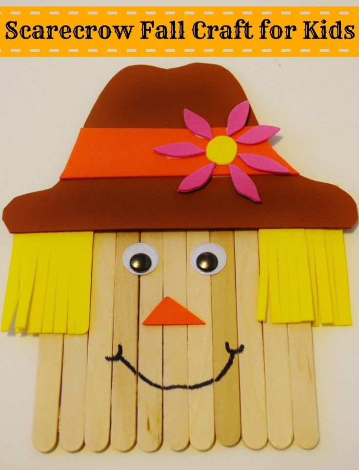 Craft Stick Scarecrow Fall Crafts For Kids Crafts And