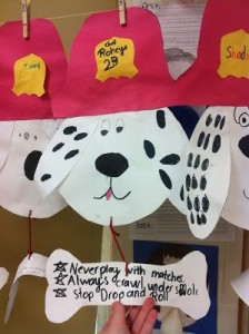 Fire Safety Dalmation craft