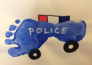 Footprint police car