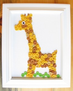 Giraffe Button Animal