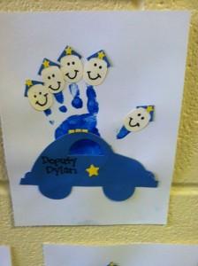 Handprint Police car