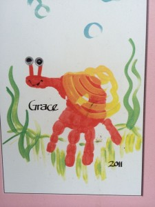 Handprint snail craft for kids