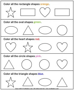 Identify Shapes Worksheet