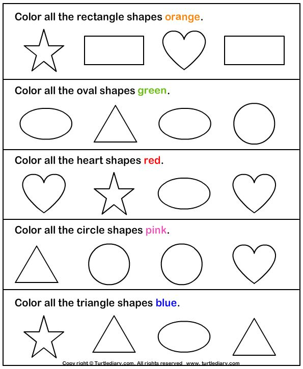 Number Names Worksheets shapes worksheets preschool Free – Free Shape Worksheets for Kindergarten