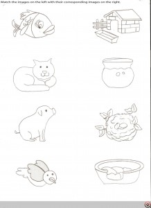 Matching animals to their home worksheet (5)