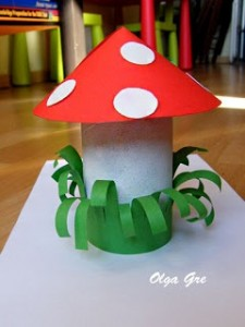 Mushroom craft idea for kids