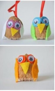 Owls With Walnuts Kids Crafts