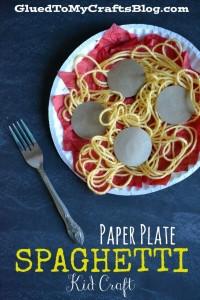 Paper Plate Spaghetti