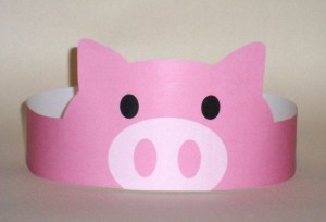 Pig Paper Crown - Printable