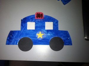 Police car craft 1