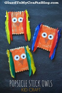 Popsicle Stick Owls