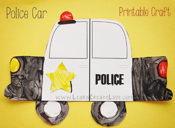 Printable Police Car Craft