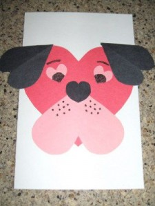 Puppy Dog Valentine card craft