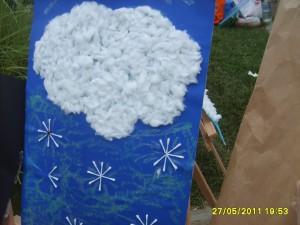 Qtip snowflake craft