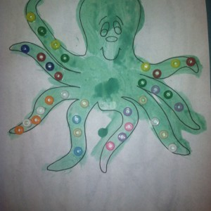 Quick Octopus craft for ocean