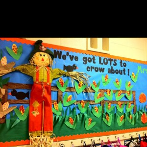 Scarecrow Fall Bulletin Board