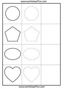 Shapes Tracing - Worksheets