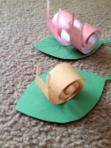 Snail Paper Craft Project