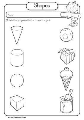 Number Names Worksheets geometry 1 worksheets : Math Worksheet Kindergarten Shapes - kindergarten shapes printable ...
