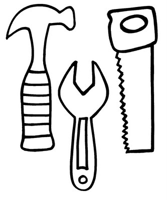 tools template for kids - Drawing Template For Kids