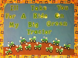 Tractor farm bulletin board. Footprint tractors.