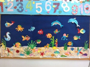 Underwater bulletin board