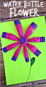Water Bottle Flower Craft for Kids