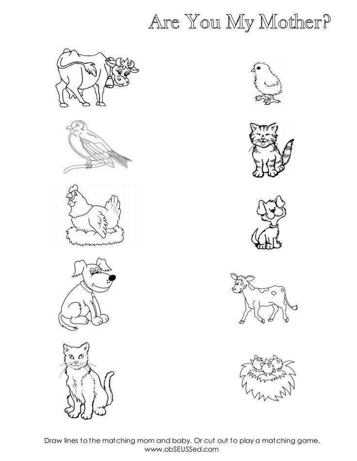 Free Printable Animal worksheet for kids – Animals Worksheet