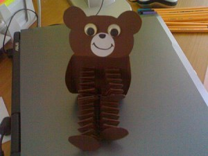 accordion bear craft