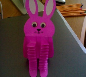 accordion bunny craft