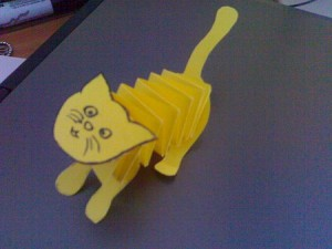 accordion cat craft idea for kid