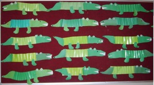 accordion crocodile craft