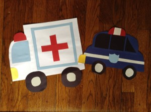 ambulance and patrol car
