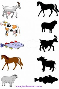 animal shadow match worksheets (10)