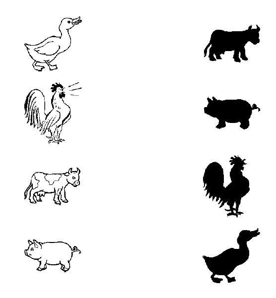 Animal Shadow Match Worksheets Crafts And Worksheets For Preschool