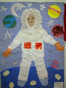 astronaut bulletin board