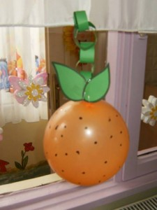 Balloon Orange Craft X on number tree worksheets