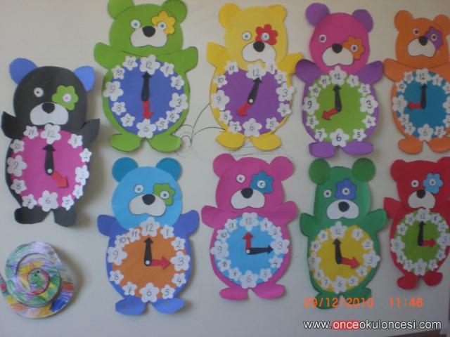 bear clock craft