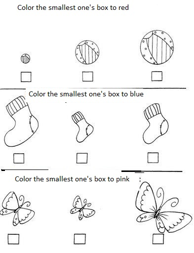 big_and_small_easy_worksheets_preschool 8 - Activity Sheets For Preschool