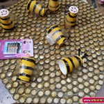 bottle cap bee craft for kids