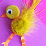 bottle cap chick craft for kids