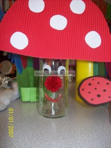 bottle mushroom craft
