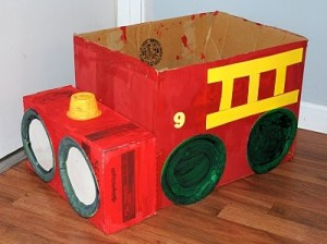 box firetruck craft