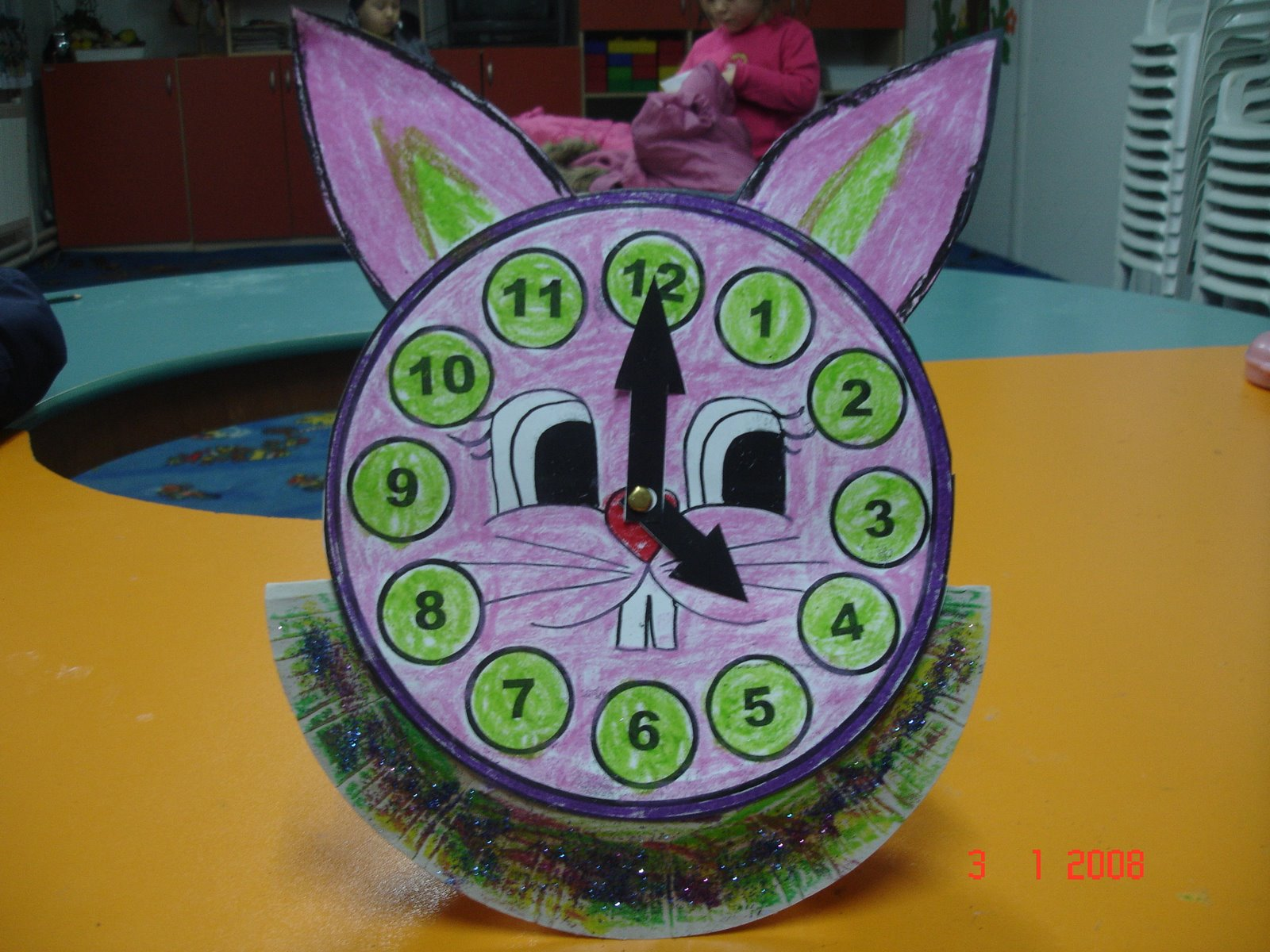 Bunny Clock Craft For Kids on animal unit first grade worksheets