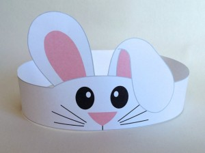 bunny paper crown craft