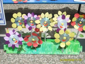 cd flower craft for kids