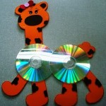 cd giraffe craft for kids